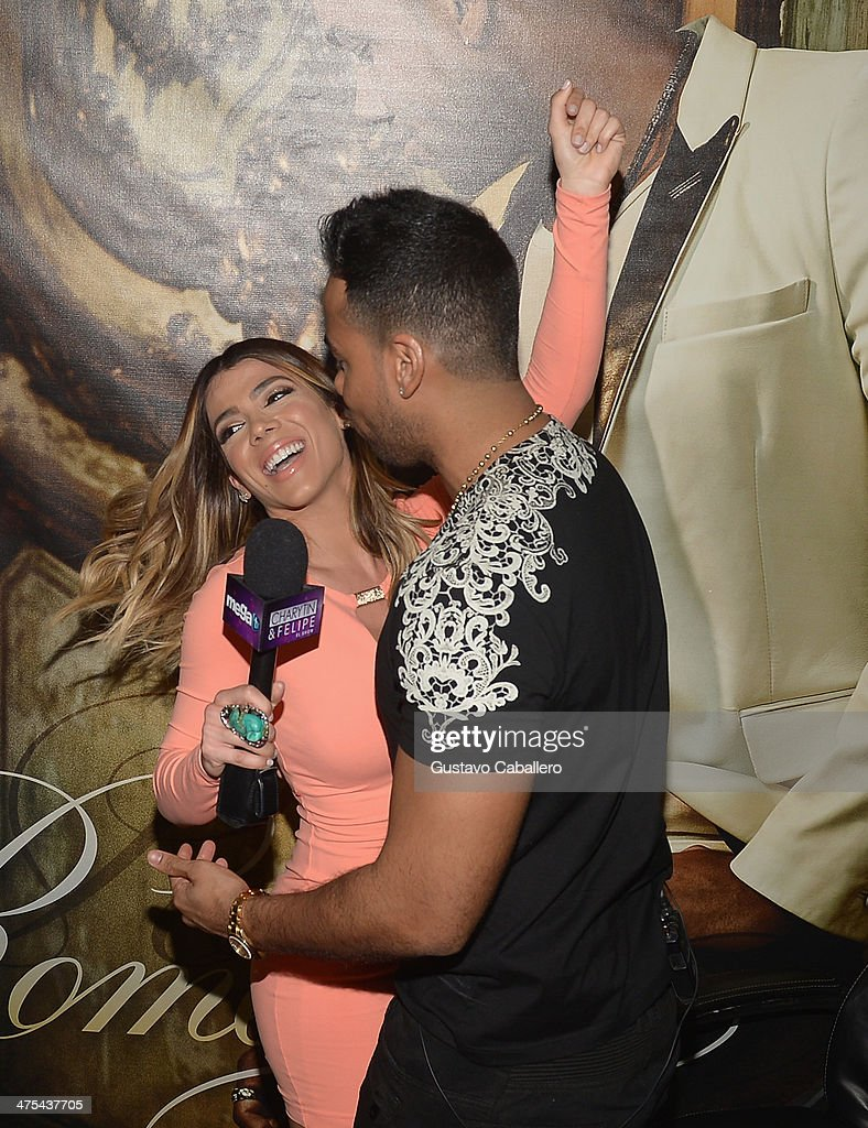 Romeo santos meets and greets fans photos and images getty images danella urbay and singer romeo santos attends his meets and greets fans at walmart on february m4hsunfo