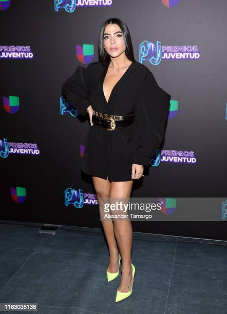 Danella Urbay attends Premios Juventud 2019 at Watsco Center on July 18 2019 in Coral Gables Florida