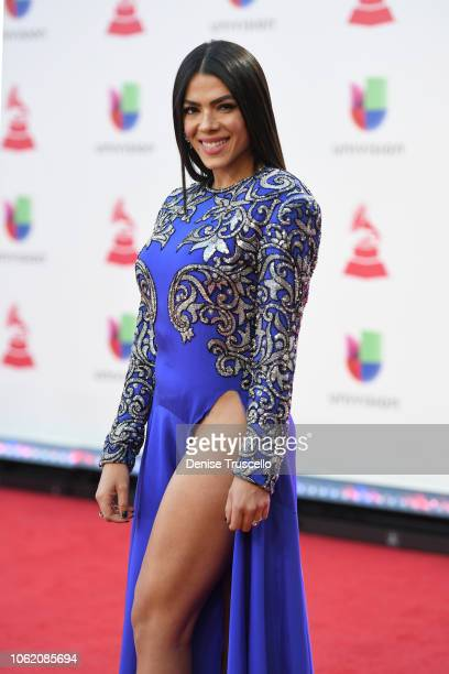 Danella Urbay attends the 19th annual Latin GRAMMY Awards at MGM Grand Garden Arena on November 15 2018 in Las Vegas Nevada