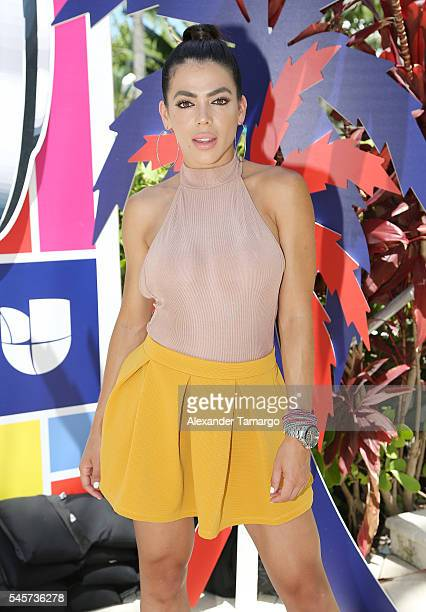 Danella Urbay is seen at DJ at PJ at the Surfcomber Hotel on July 9 2016 in Miami Beach Florida