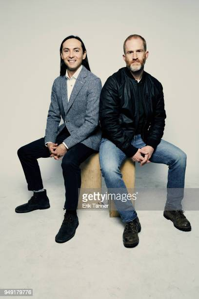 Danfung Dennis and Eric Strauss of the film This Is Climate Change pose for a portrait during the 2018 Tribeca Film Festival at Spring Studio on...