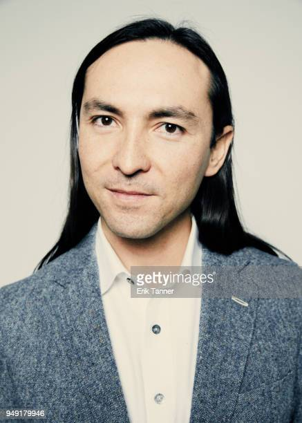 Danfung Dennis of the film This Is Climate Change poses for a portrait during the 2018 Tribeca Film Festival at Spring Studio on April 20 2018 in New...