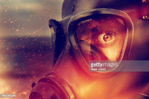danger and fire - in flames i the mask stock pictures, royalty-free photos & images