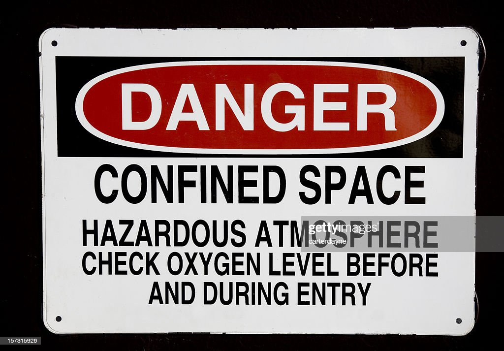 Danger confined space sign : Stock Photo