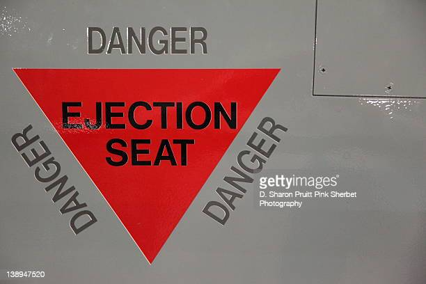 Danger ejection seat sign