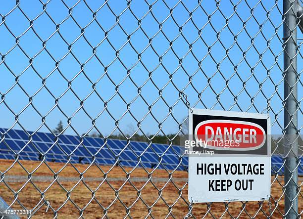 CONTENT] Danger High Voltage Solar farm sign new power source that makes sense Energy farm in central Georgia making electricity