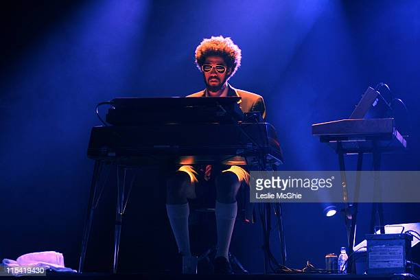 Danger Mouse of Gnarls Barkley during Gnarls Barkley in Concert at the Hammersmith Apollo July 6 2006 at Hammersmith Apollo in London Great Britain