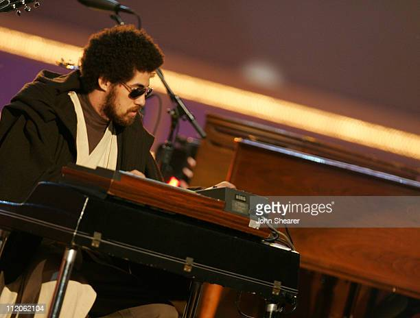 Danger Mouse of Gnarls Barkley performs 'Crazy' during 2006 MTV Movie Awards MTVcom Show at Sony Pictures in Culver City California United States