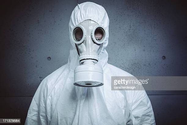 danger: radioactive attack - gas mask stock pictures, royalty-free photos & images