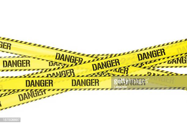 danger strip - warning sign stock pictures, royalty-free photos & images