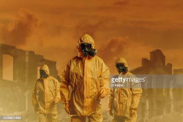 danger zone - biochemical weapon stock pictures, royalty-free photos & images