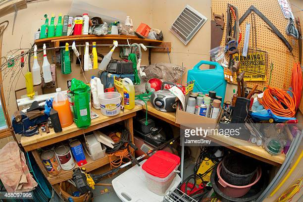 Dangerous and Disorganized Home Storage Area
