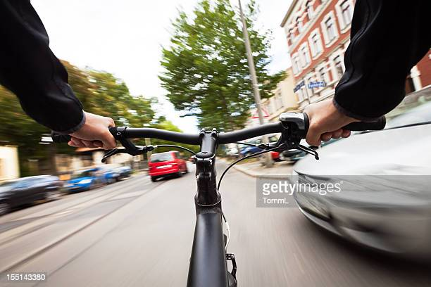 dangerous biking - crash stock pictures, royalty-free photos & images