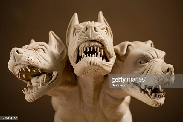 Dangerous dog with three heads