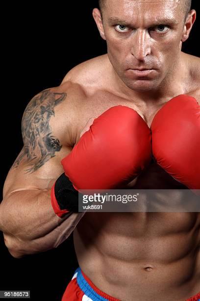 Dangerous fighter portrait