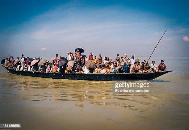 Dangerous journey river in Jumuna