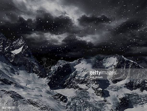 dangerous peaks - snow storm stock pictures, royalty-free photos & images