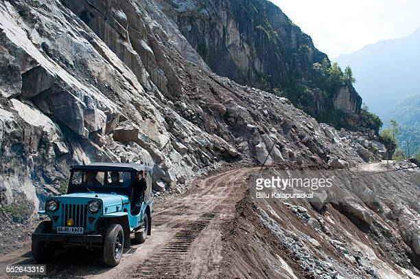 Dangerous Roads Sikkim Sikkim witnesses frequent landslides as a result mountains sides collapse and new roads have to be rebuilt