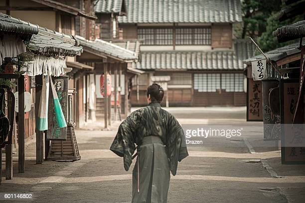 Dangerous Samurai in Japanese village