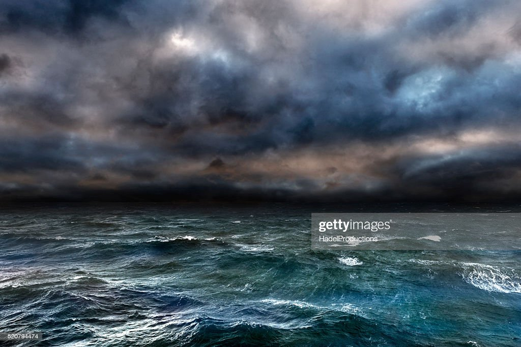Dangerous storm over ocean : Stock Photo