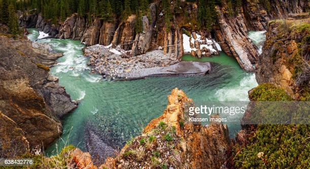 dangerous waters - kananaskis stock-fotos und bilder