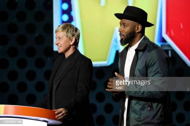 "Danger's My Middle Game"" Episode 405 -- Pictured: Ellen DeGeneres, Stephen ""tWitch"" Boss --"