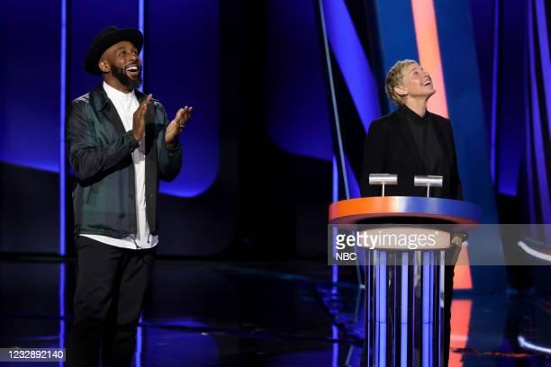 "Danger's My Middle Game"" Episode 405 -- Pictured: Stephen ""tWitch"" Boss, Ellen DeGeneres --"