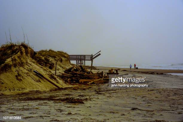 danging stairway - 2018 hurricane florence stock pictures, royalty-free photos & images