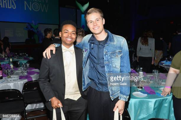 DangMattSmith and Logan Shroyer attend the 10th Annual Shorty Awards at PlayStation Theater on April 15 2018 in New York City