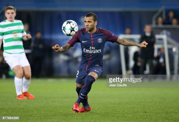 Dani Alves aka Daniel Alves of PSG during the UEFA Champions League group B match between Paris SaintGermain and Celtic FC at Parc des Princes on...