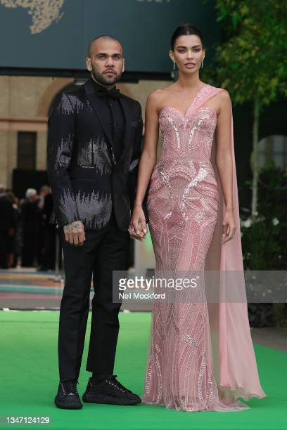 Dani Alves and Joana Sanz attends the Earthshot Prize 2021 at Alexandra Palace on October 17, 2021 in London, England.
