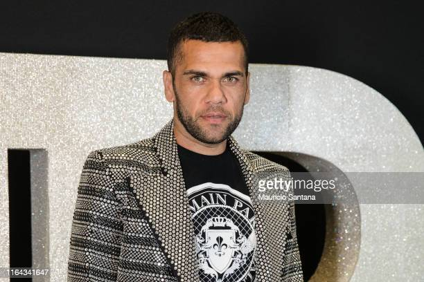 Dani Alves attends the Balmain party at Cidade Jardim Shopping on August 26 2019 in Sao Paulo Brazil