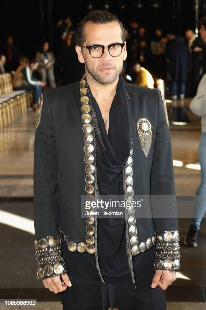 Dani Alves attends the Georges Hobeika Haute Couture Spring Summer 2019 show as part of Paris Fashion Week on January 21 2019 in Paris France