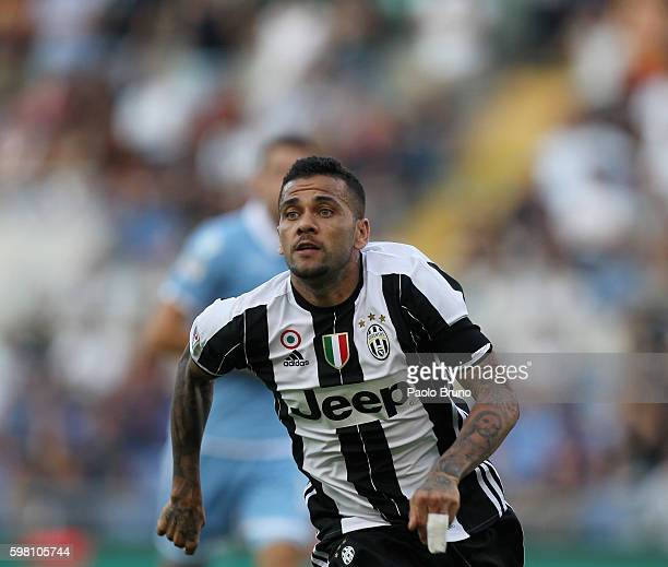 Dani Alves Da Silva of Juventus FC in action during the Serie A match between SS Lazio and Juventus FC at Stadio Olimpico on August 27 2016 in Rome...
