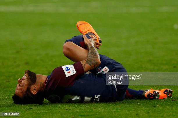 Dani Alves during French Cup final between Les Herbiers VF and Paris SaintGermain at Stade de France on May 8 2018 in SaintDenis near Paris France