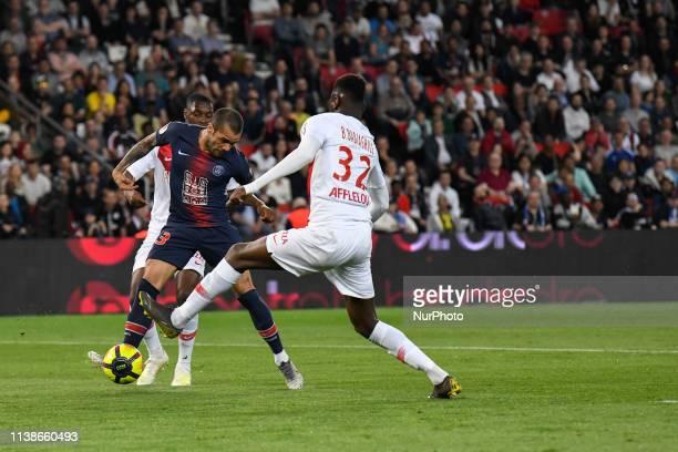 Dani Alves during the french Ligue 1 match between Paris SaintGermain and AS Monaco at Parc des Princes stadium on 2019 April 21 in Paris France