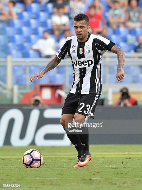 Dani Alves during the Italian Serie A football match between SS Lazio and FC Juventus at the Olympic Stadium in Rome on august 27 2016