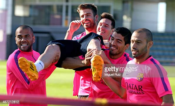 Fc barcelona training session photos and images getty images - Javier suarez ...