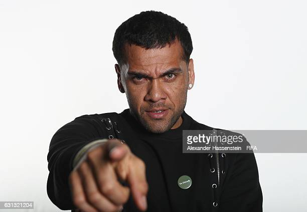 Dani Alves of Brazil and Juventus poses prior to The Best FIFA Football Awards at Kameha Zurich Hotel on January 9 2017 in Zurich Switzerland