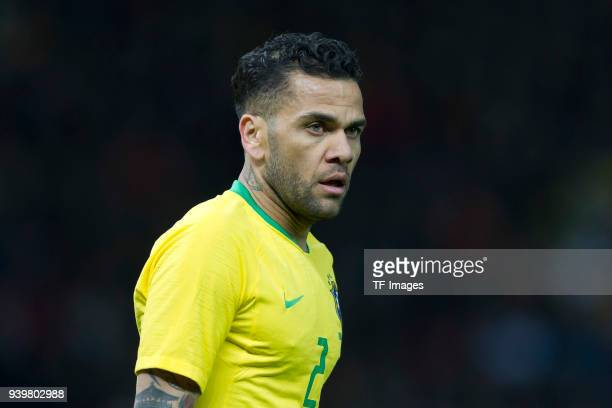 Dani Alves of Brazil looks on during the international friendly match between Germany and Brazil at Olympiastadion on March 27 2018 in Berlin Germany