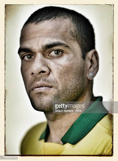 Dani Alves of Brazil poses for a portrait at the Palace Hotel on June 12 2013 in Brasilia Brazil