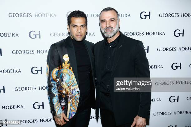 Dani Alvez Faz and Georges Hobeika attend the Georges Hobeika Haute Couture Spring Summer 2018 show as part of Paris Fashion Week on January 22, 2018...