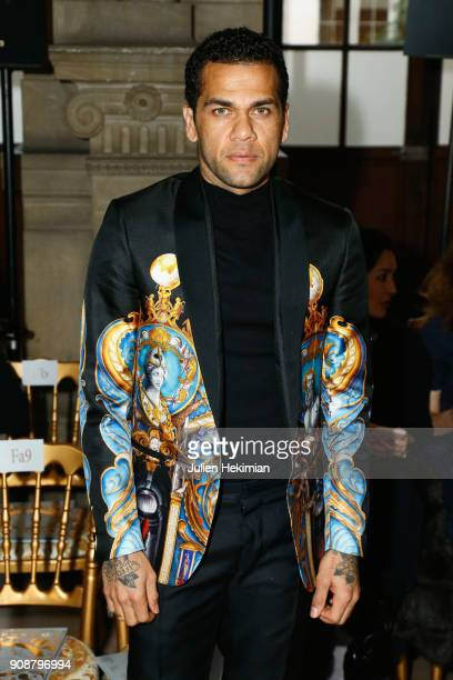 Dani Alvez Faz attends the Georges Hobeika Haute Couture Spring Summer 2018 show as part of Paris Fashion Week on January 22 2018 in Paris France