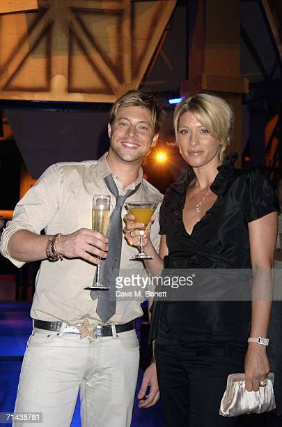 Dani Behr and Duncan James attend the after show party following the UK Premiere of Superman Returns at The Royal Courts of Justice on July 13 2006...
