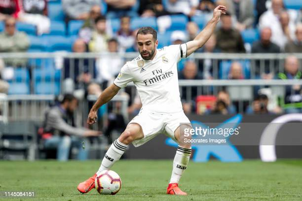 Dani Carvajal of Real Madrid during the La Liga Santander match between Real Madrid v Real Betis Sevilla at the Santiago Bernabeu on May 19 2019 in...