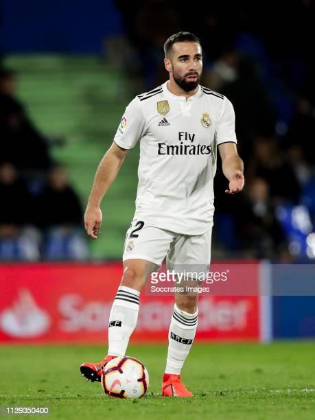 Dani Carvajal of Real Madrid during the La Liga Santander match between Getafe v Real Madrid at the Coliseum Alfonso Perez on April 25 2019 in...