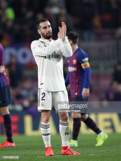 Dani Carvajal of Real Madrid during the Spanish Copa del Rey match between FC Barcelona v Real Madrid at the Camp Nou on February 6 2019 in Barcelona...
