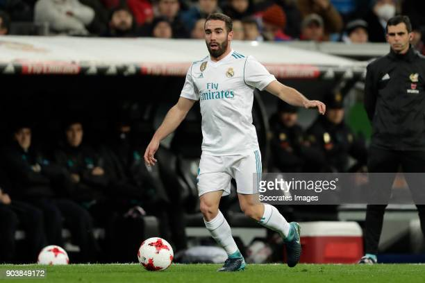 Dani Carvajal of Real Madrid during the Spanish Copa del Rey match between Real Madrid v Numancia on January 10 2018