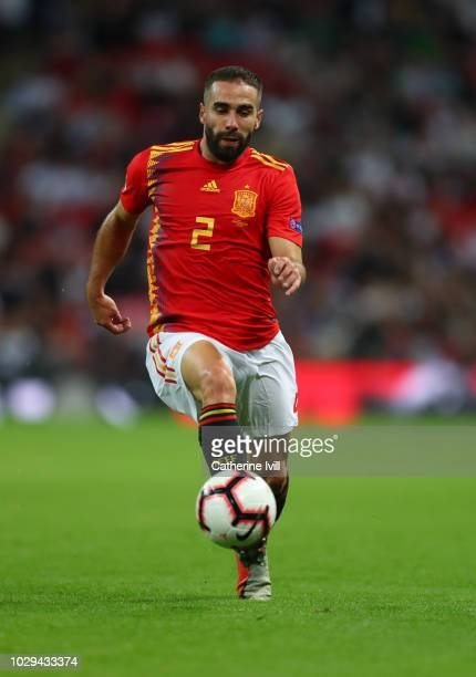 Dani Carvajal of Spain during the UEFA Nations League A group four match between England and Spain at Wembley Stadium on September 8 2018 in London...