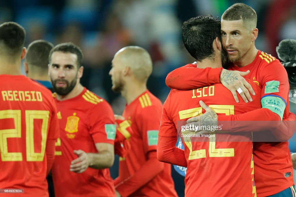 Spain  v Morocco  -World Cup : News Photo